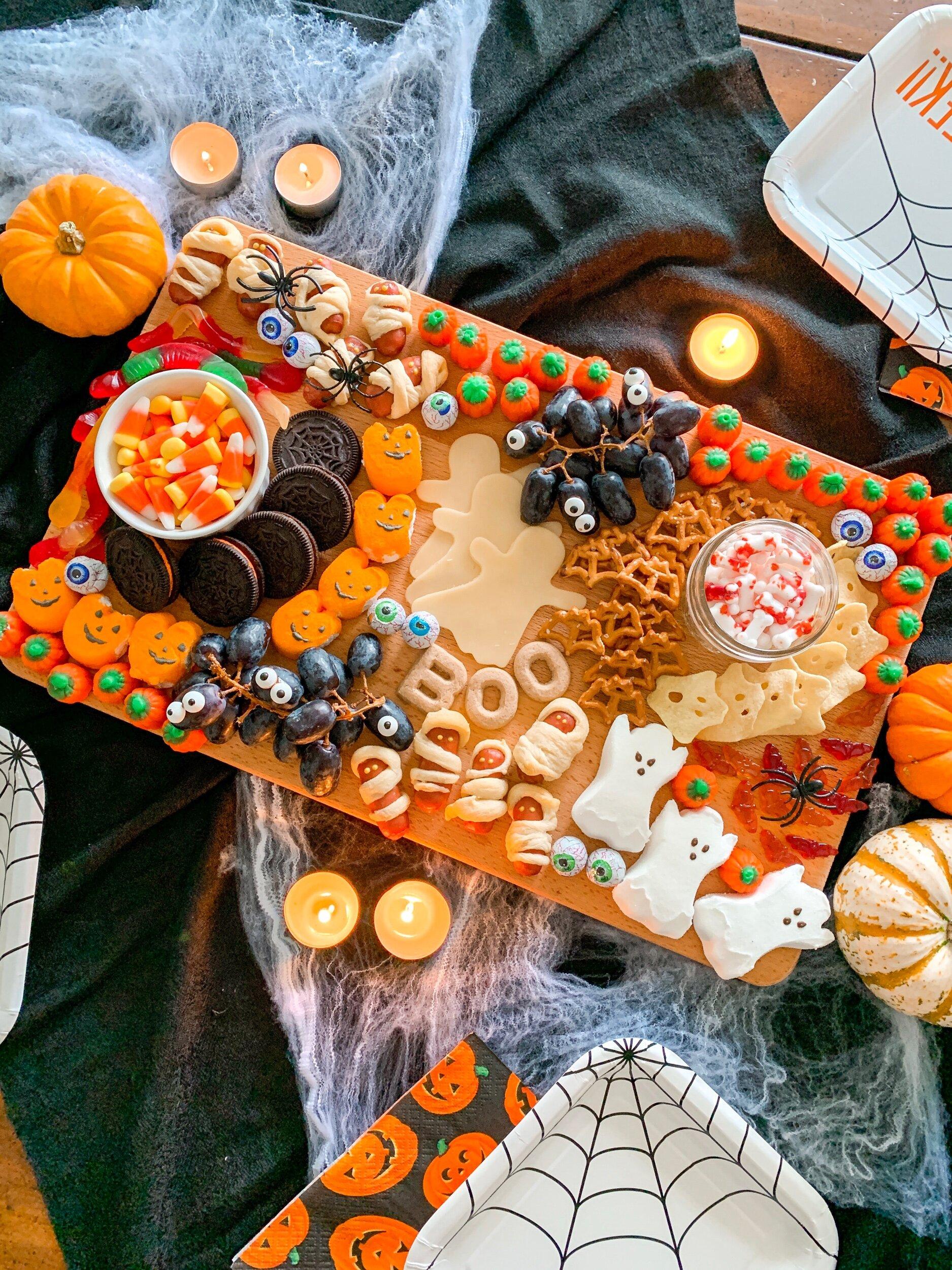 Make a kid friendly Halloween Charcuterie Board this season!