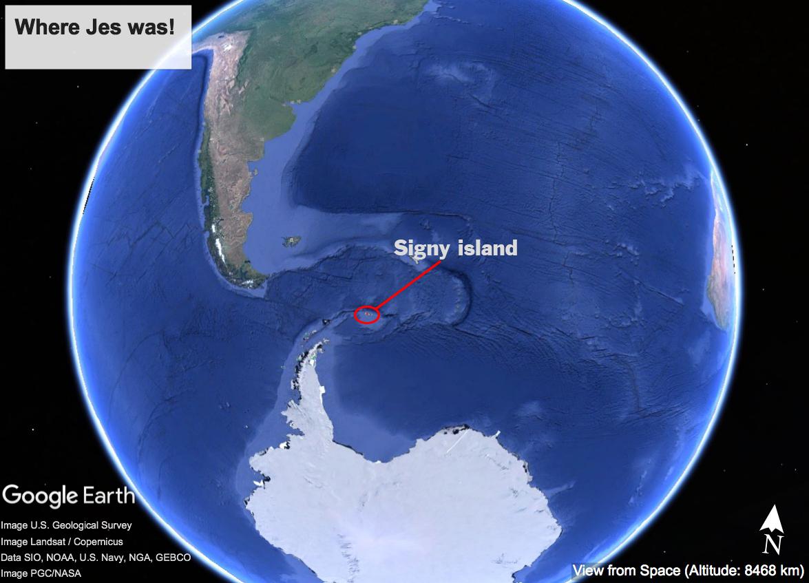 Location of Signy island