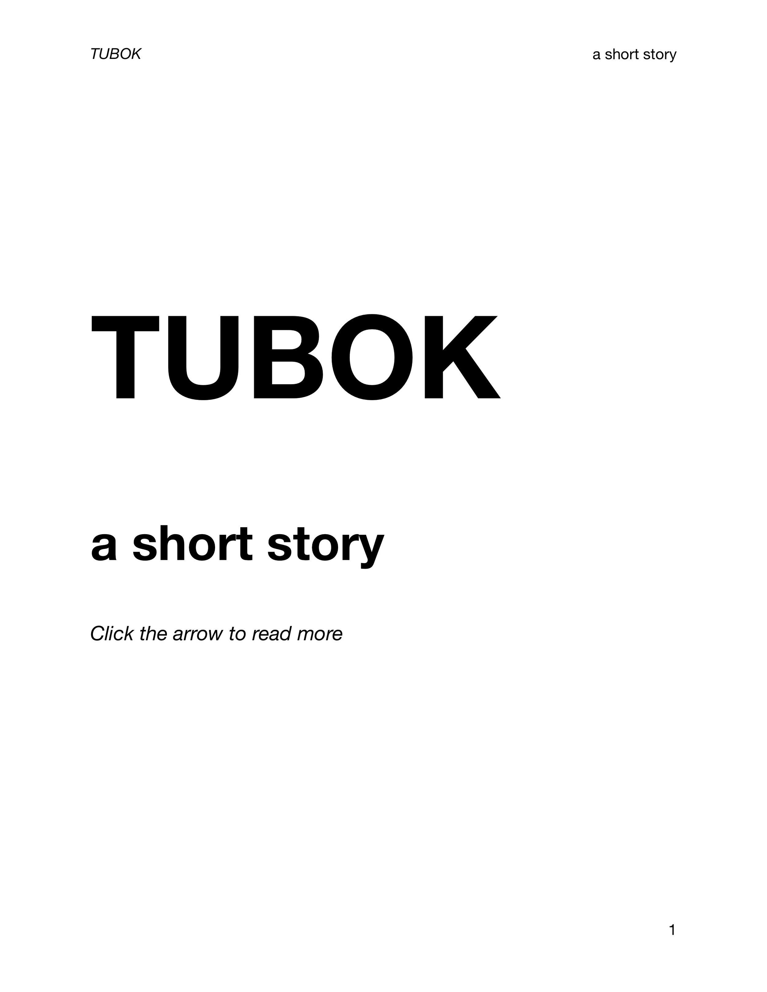 TUBOK (A Short Story) cover.jpg