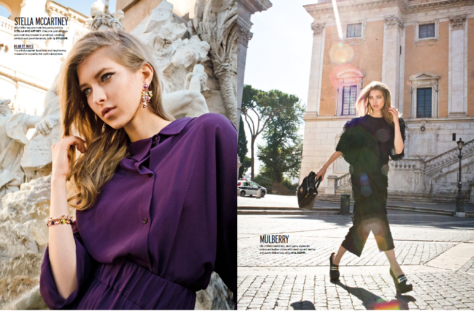 Editorial published on Elle. Makeup by Valentina Pintus