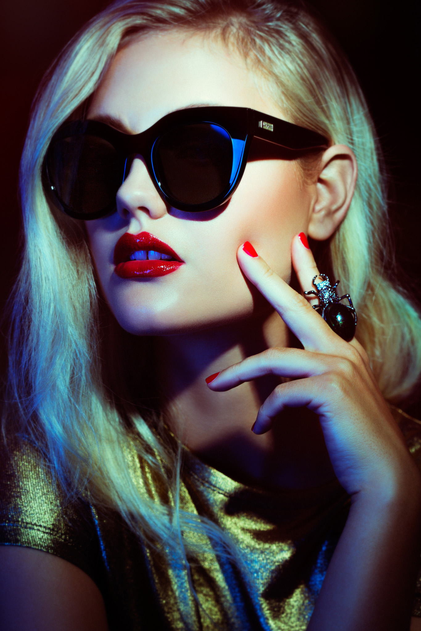 Sunglasses Campaign. Beauty Makeup