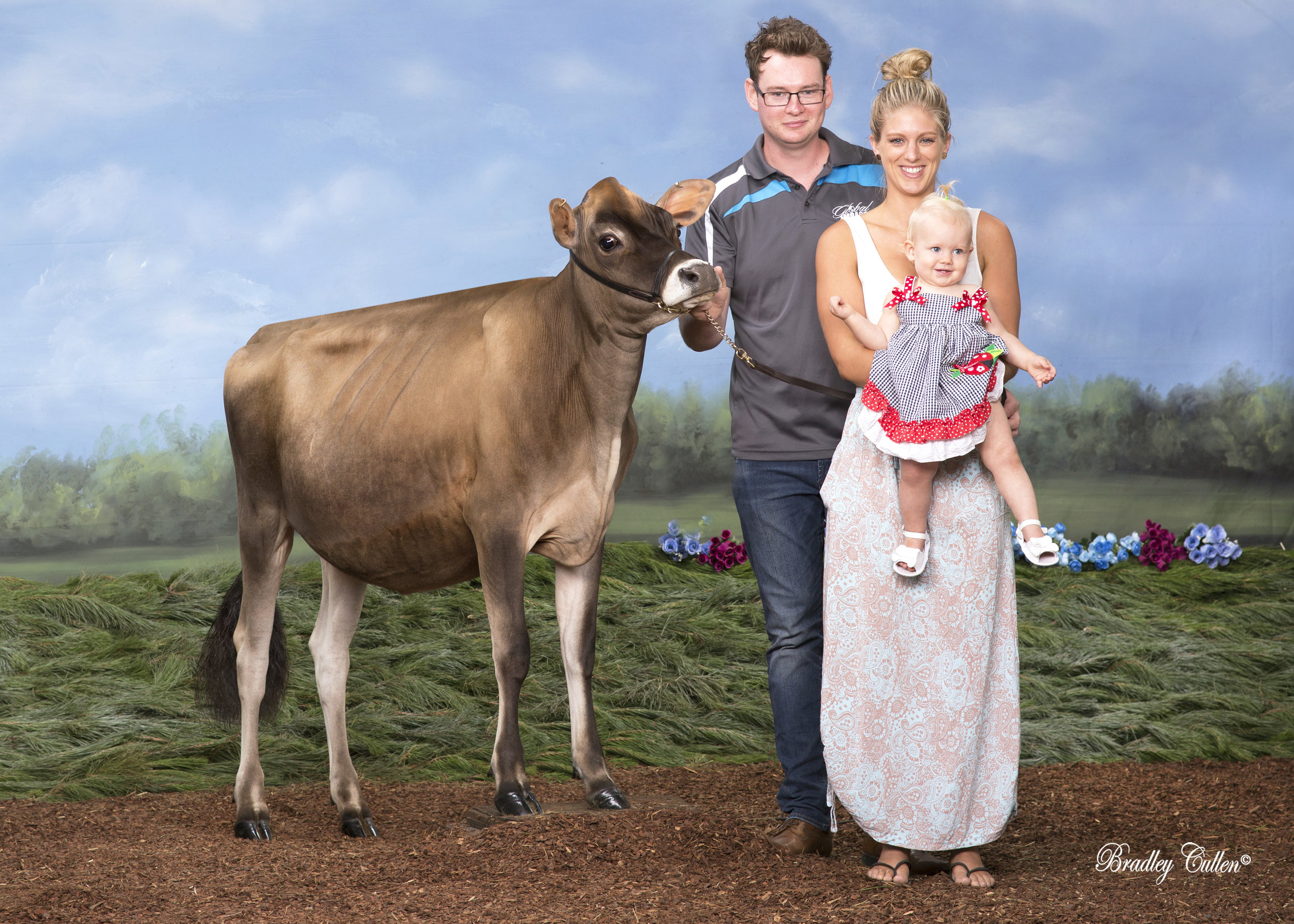 Eva's first cow owned with an International Syndicate of nine kids in three countries!