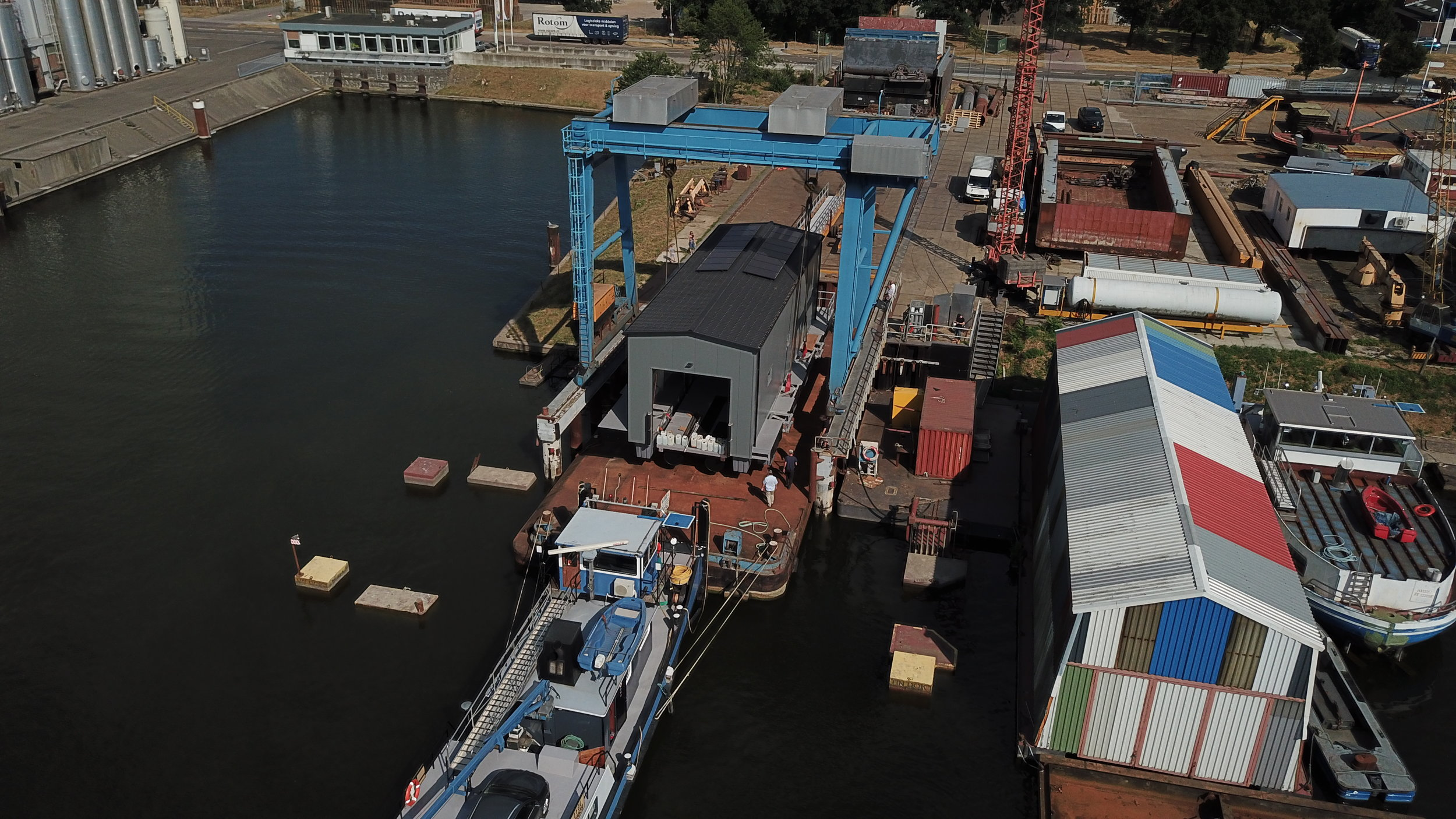 Drone view floating boathouse.JPG