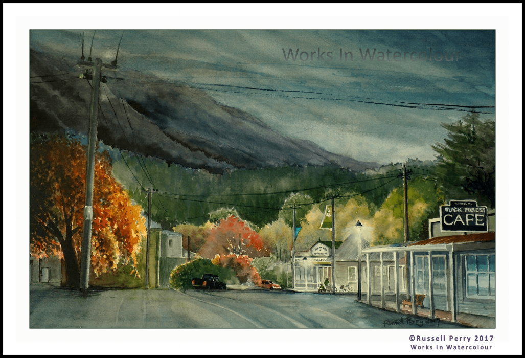 """RUSH HOUR"" - Naseby, Otago, NZ. Original watercolour."