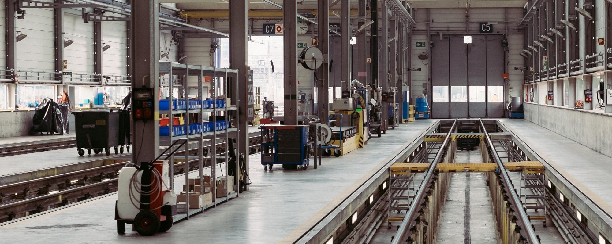 Fabriek waarin elektrische unu scooters worden gemaakt en gecontroleerd