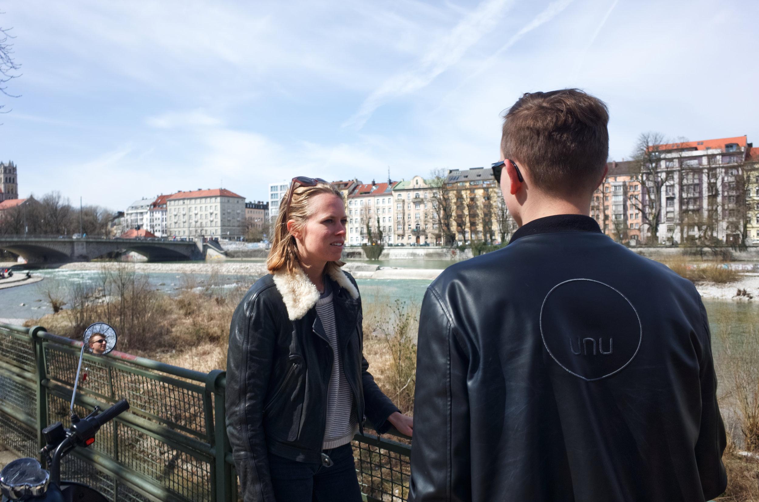Meeting with Valentina Harrendorf, another of Munich's unu Pioneers.