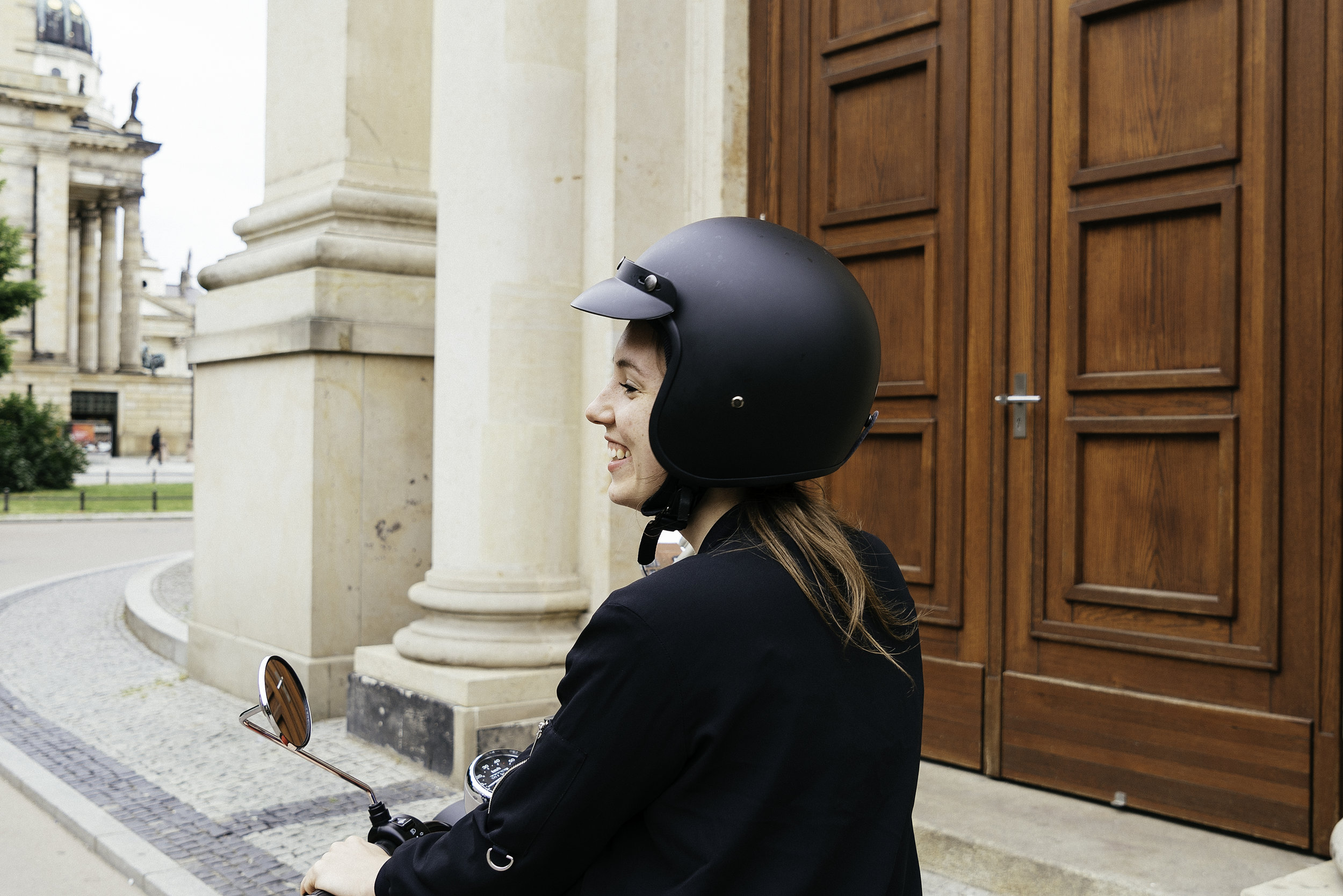 Jael Martin on her new Matte Black unu Scooter