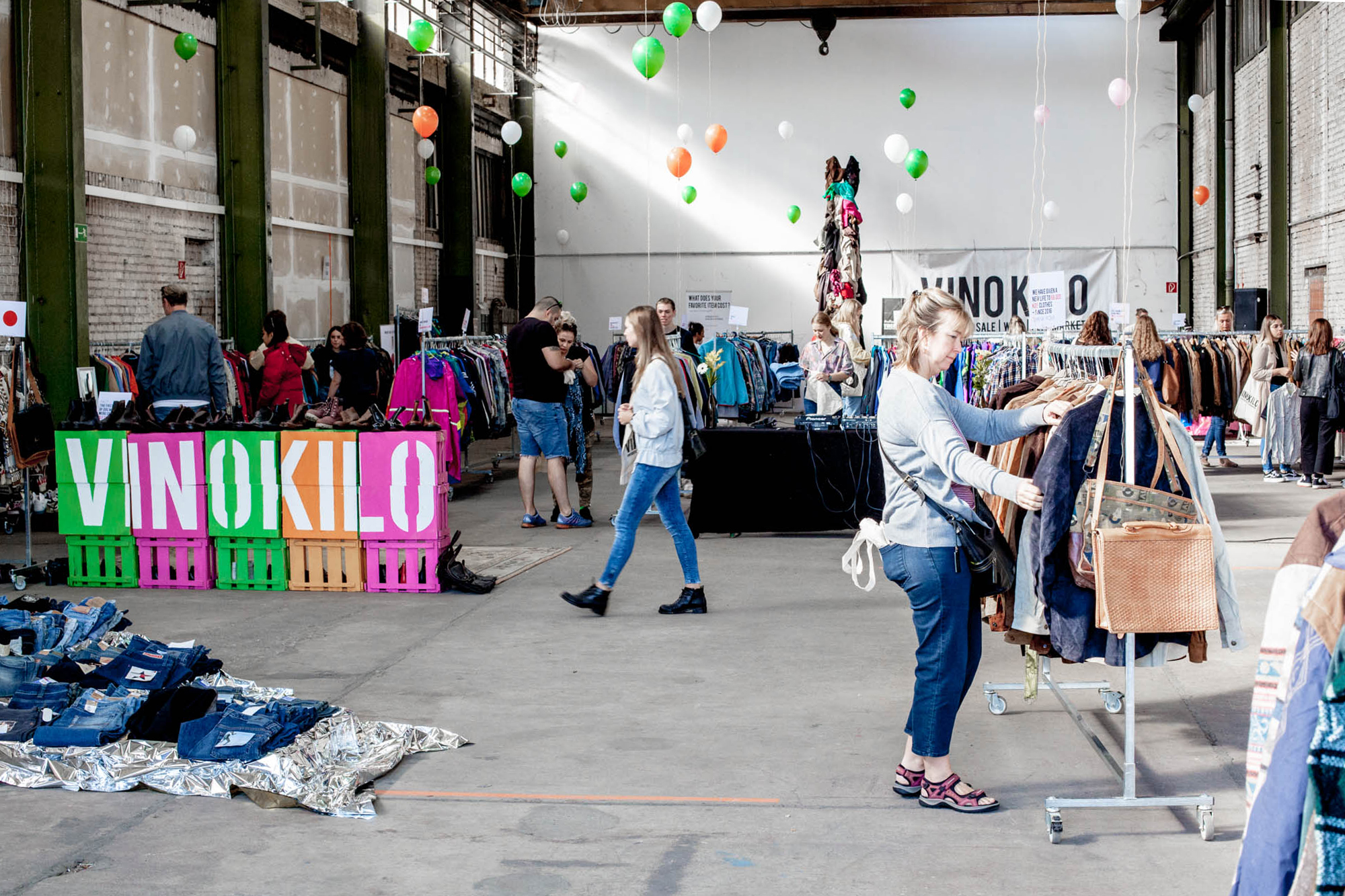 VinoKilo is Germany's biggest pop-up event for second-hand clothing