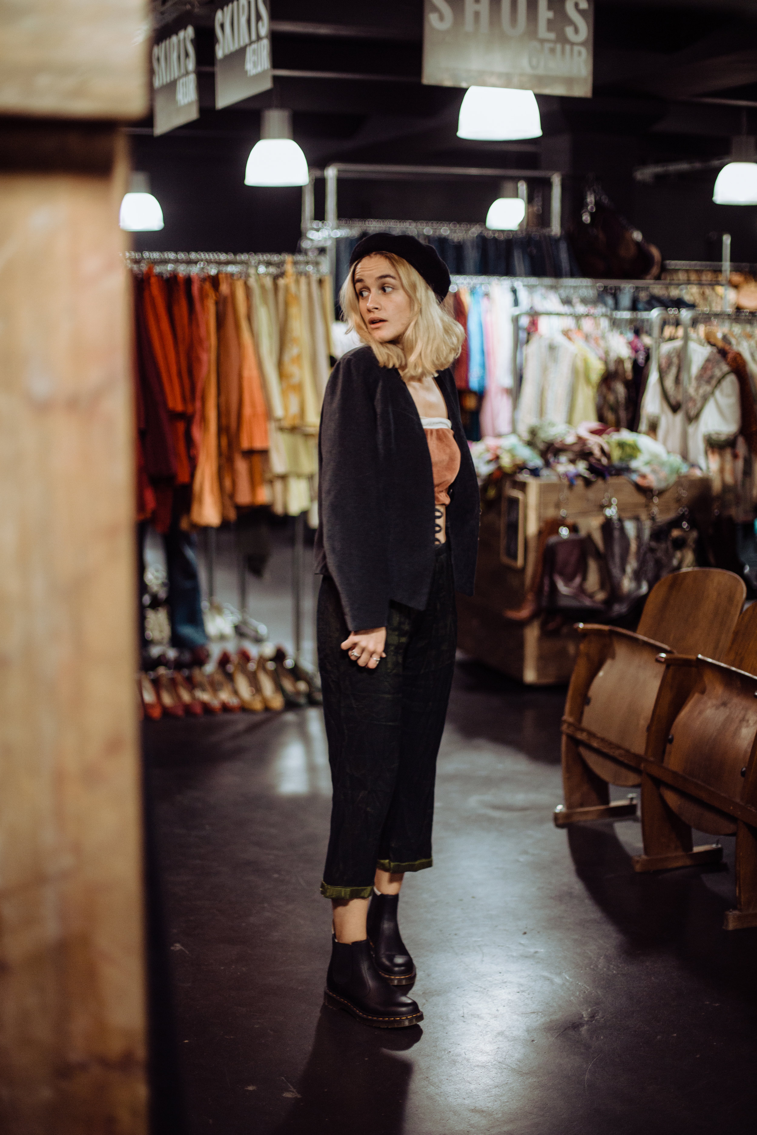 """I try to live my life as sustainably as possible and to take care of the environment. I started only wearing fair and sustainable fashion a few years ago"" – Mogli at Pick'n Weight in Berlin"