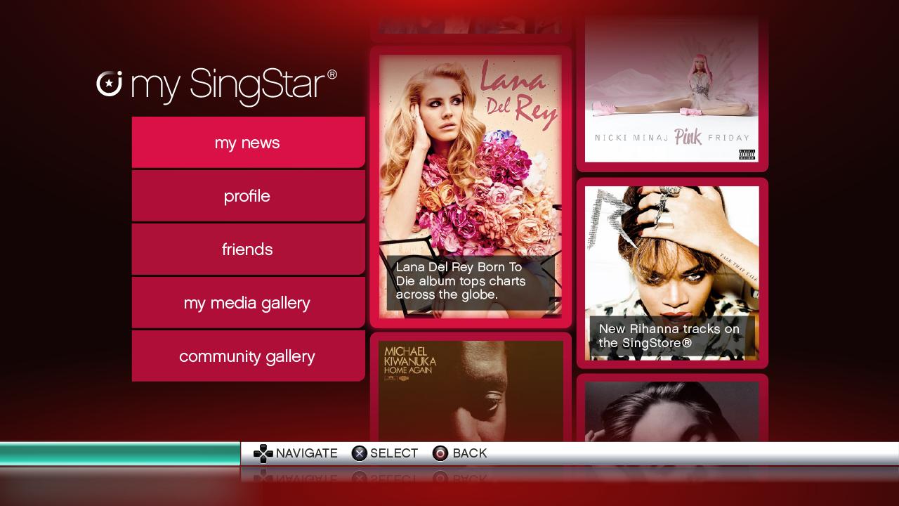 My SingStar Home