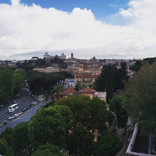 Filming in Rome this week. Standing on one of the seven hills. #filmmaking #Rome #Bruproductions