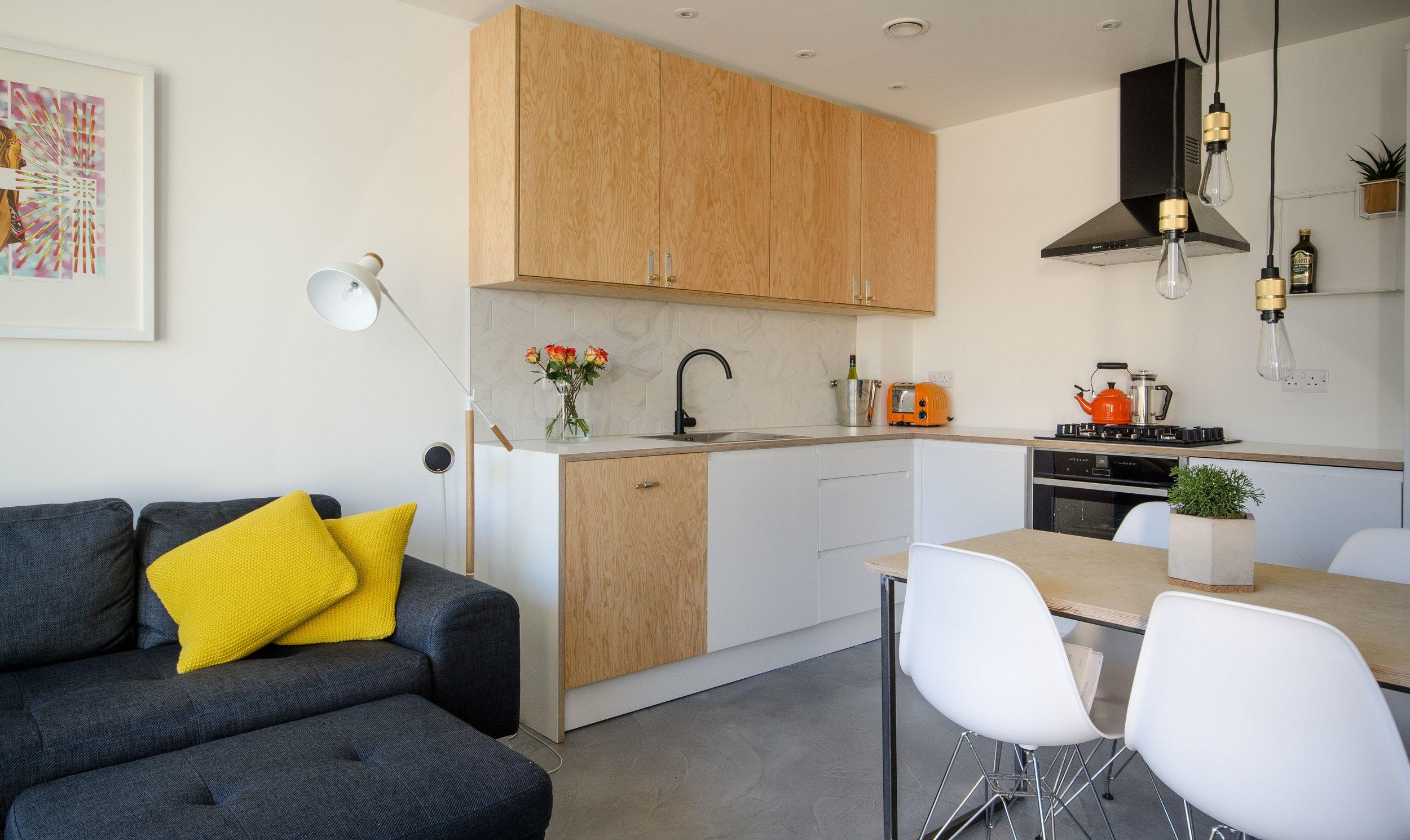 Open plan living design.