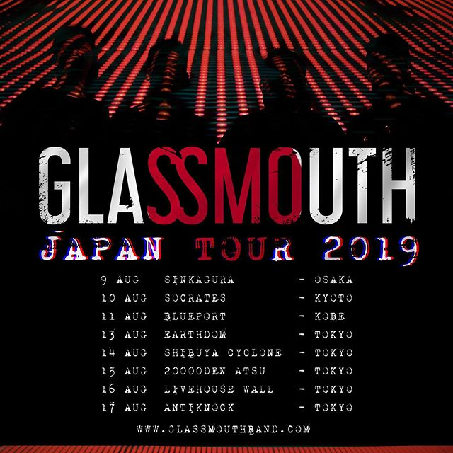 We are coming to Japan again. www.glassmouthband.com #glassmouth #mathcore #chaotichardcore #tour #japan #japantour
