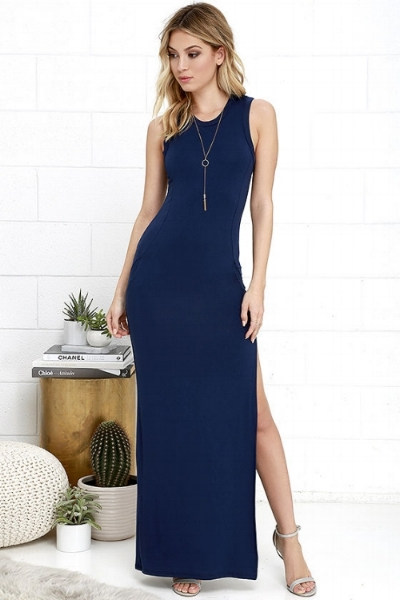 Navy is one of the most popular colors that guests wear to weddings. It's flattering, goes with every season, and far from white. Shop this dress at Lulu's for $40.
