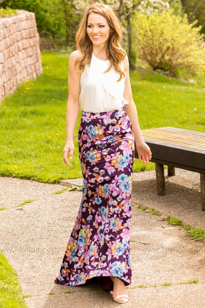 Pick a dress or skirt that sits below your knees or opt for maxi! This Spring maxi skirt is on sale at  Filly Flair Boutique  for $20!
