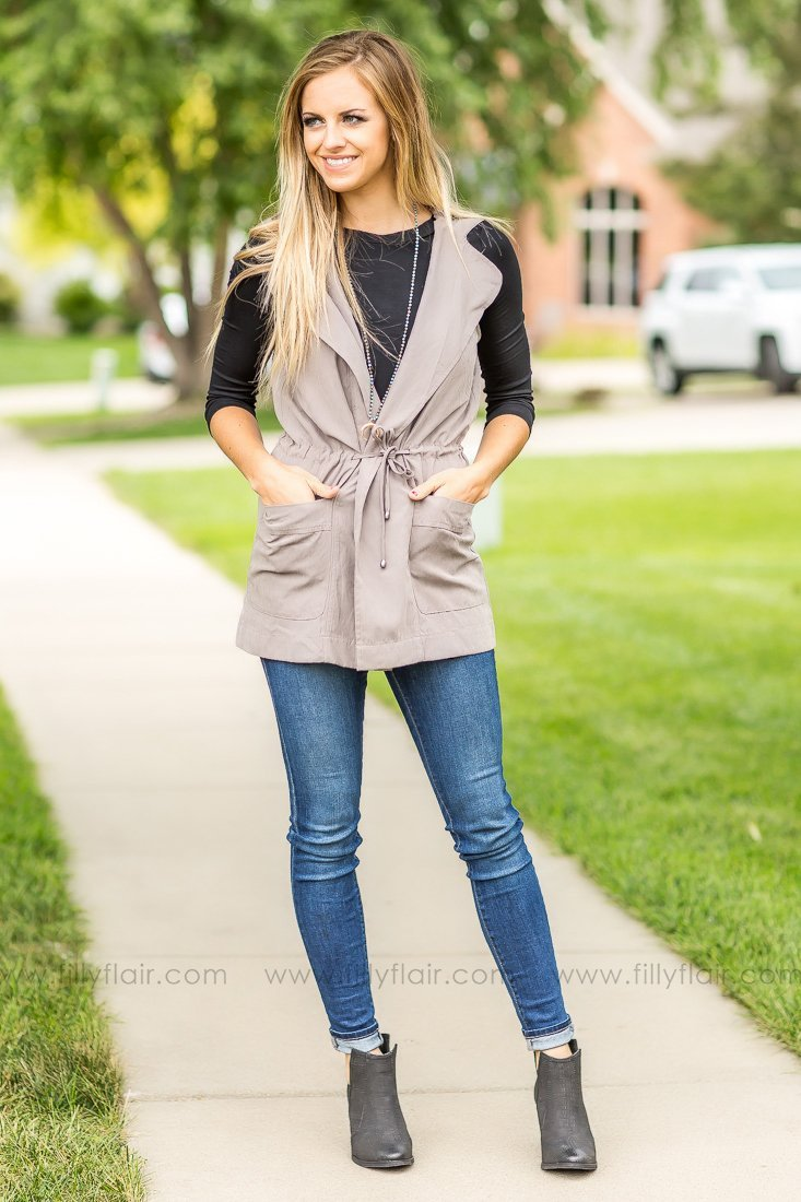 Filly Flair Boutique  has some cute (and affordable) Fall outfits! This vest is $32.