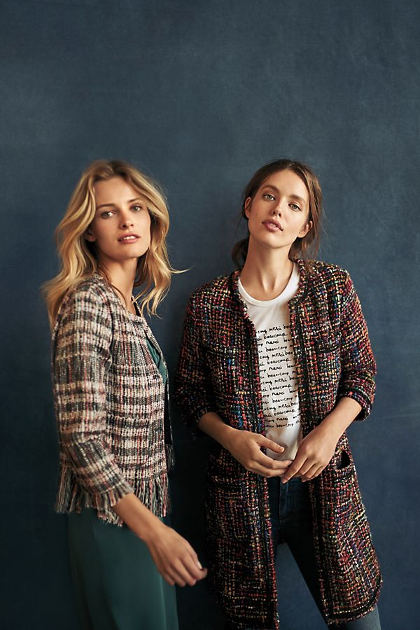 These tweed jackets are perfect for the office to stay warm all day!  Anthropologie  $178.