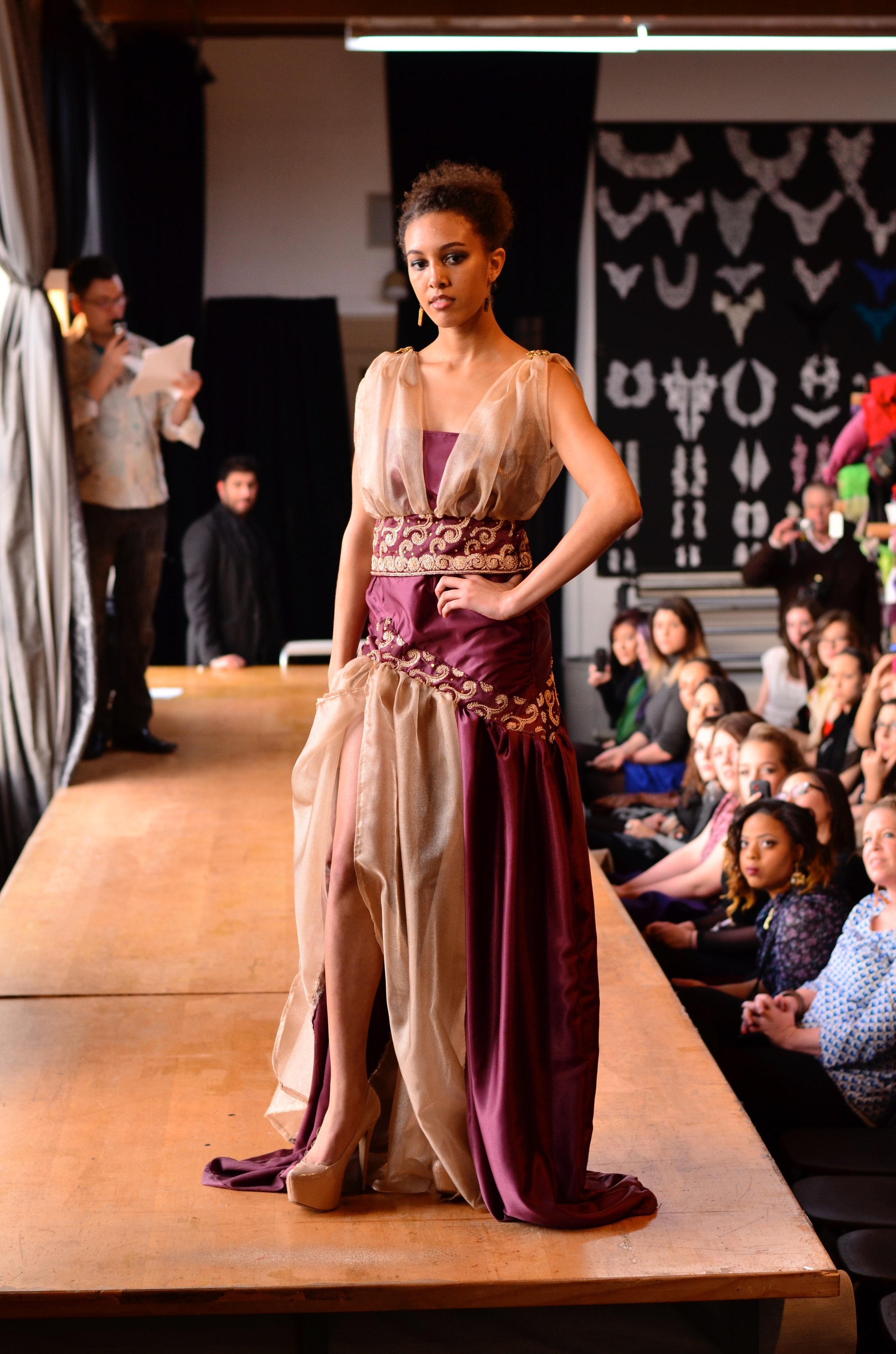 Skirt and matching corset top showcased at design competition