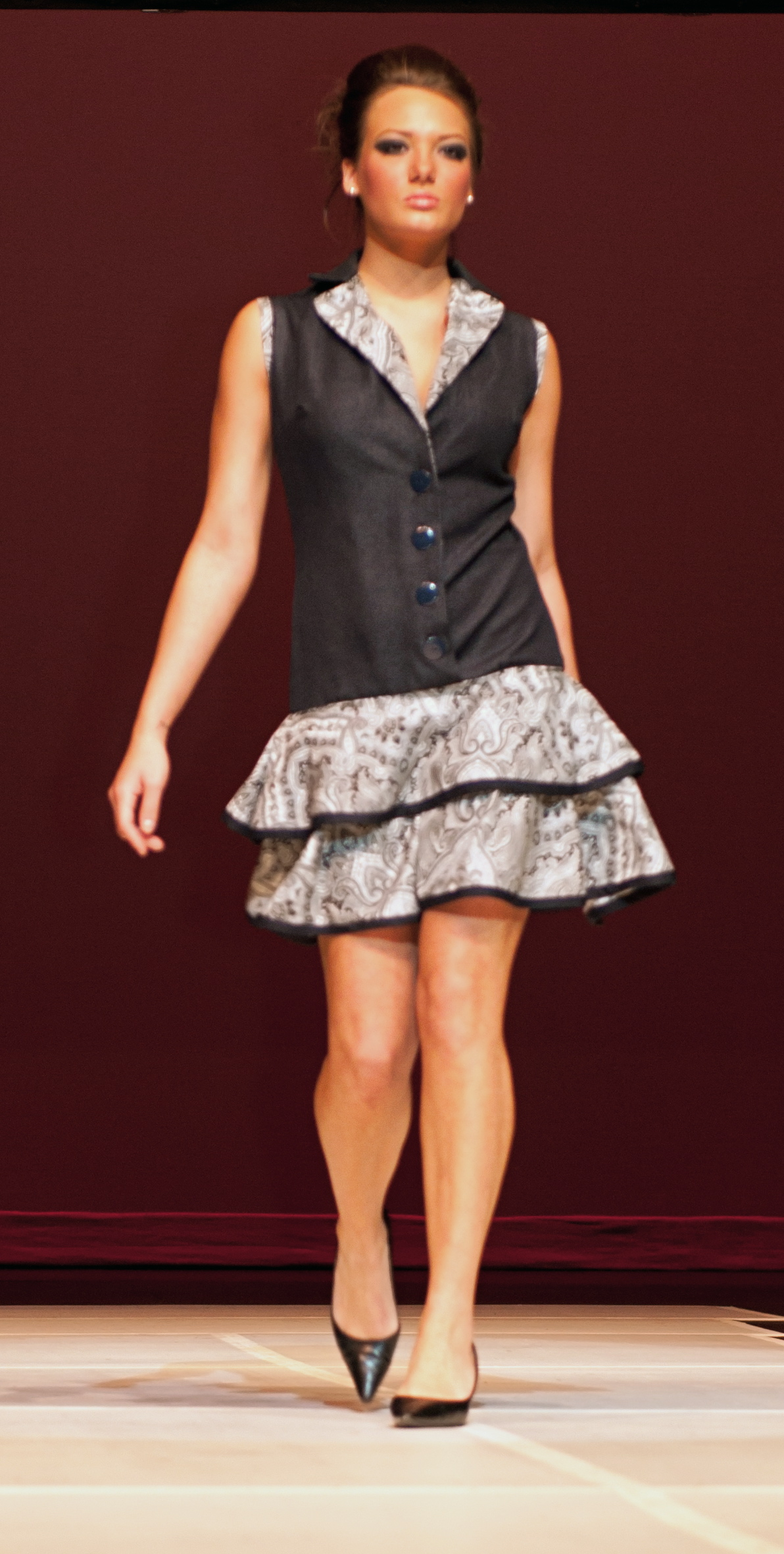Denim dress showcased at school fashion show