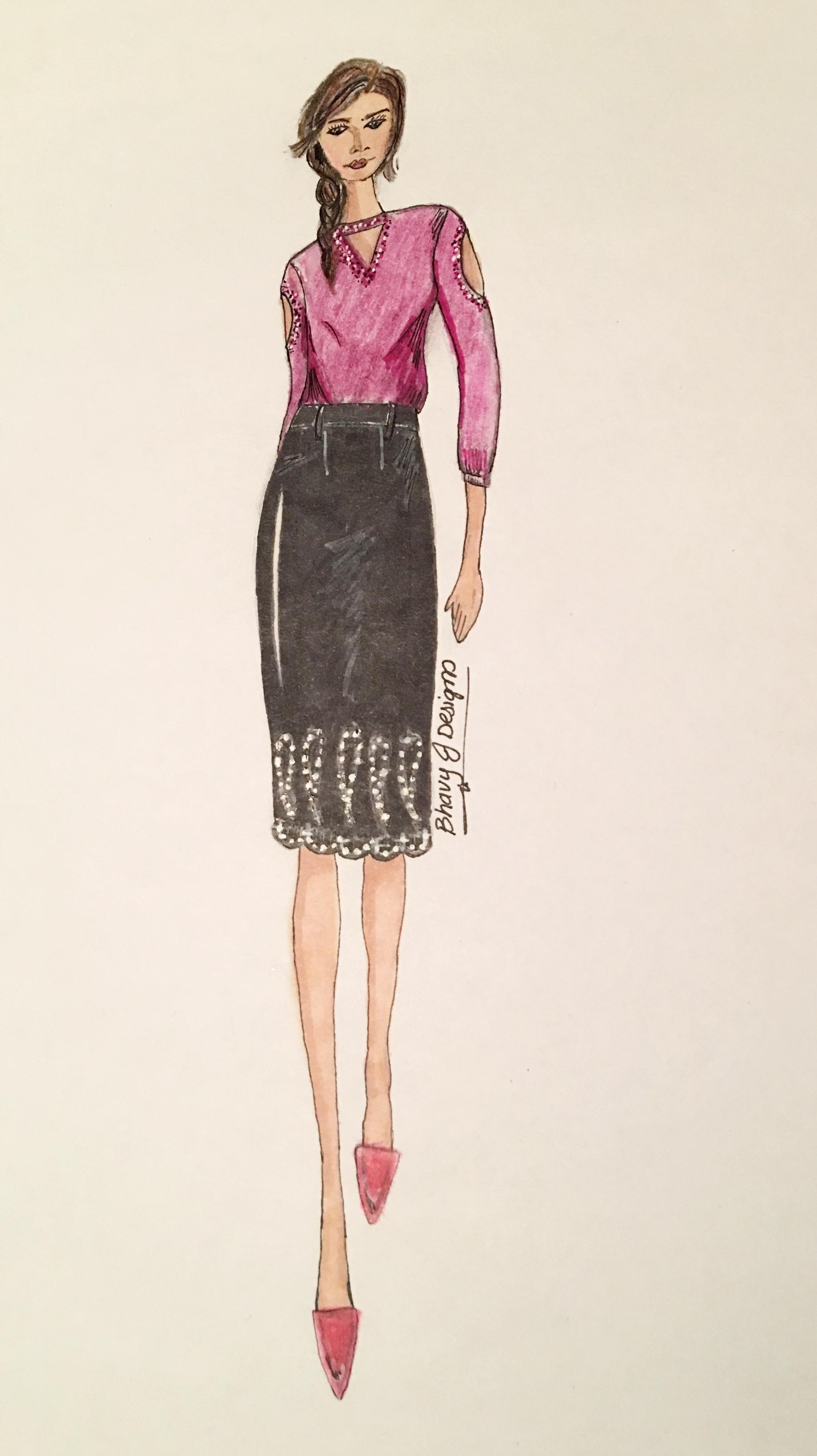 Original BhavyJ Design sketches