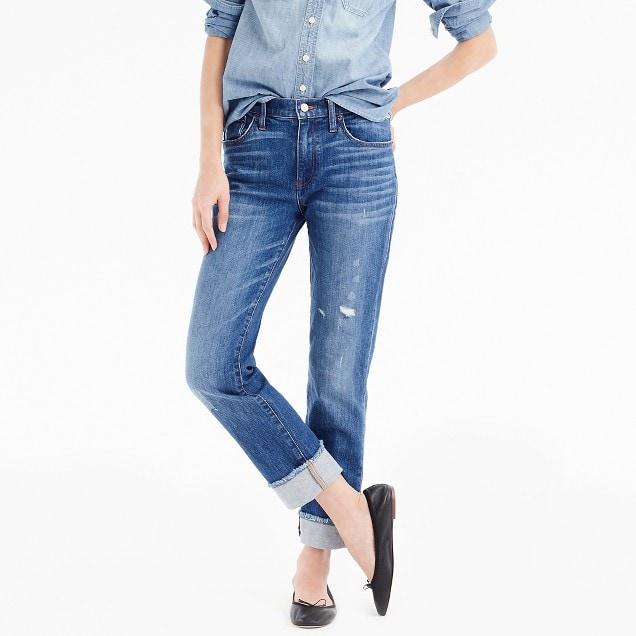 Check out J.Crew denim line  J.Crew boyfriend jeans $125