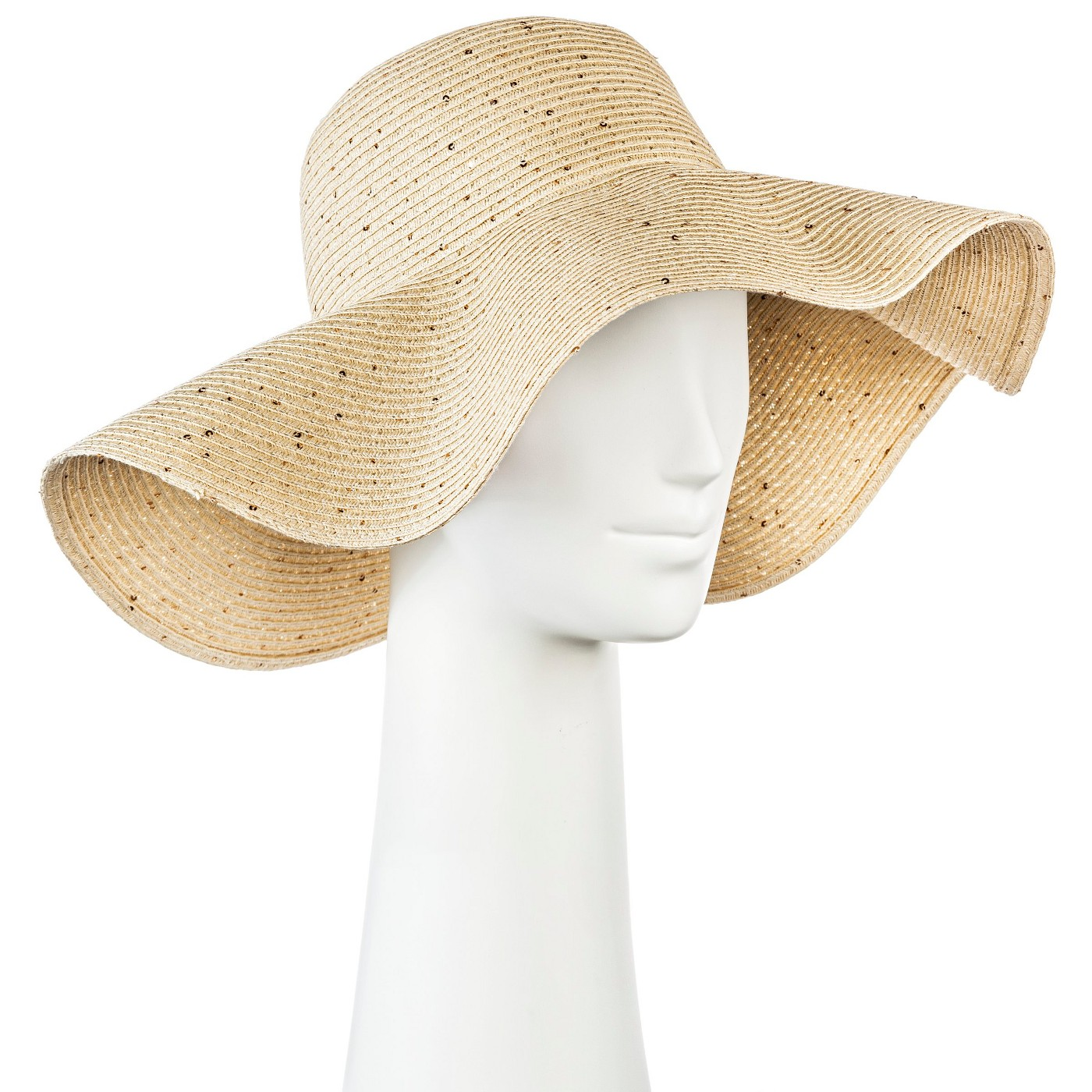 Floppy Straw Hat with Sequins  $15