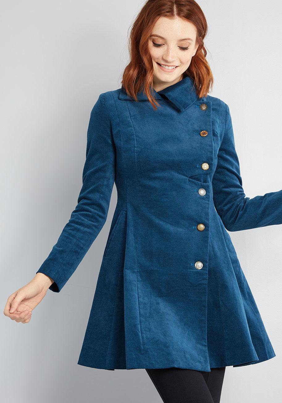 Pleasantly Poised Velvet Coat $149
