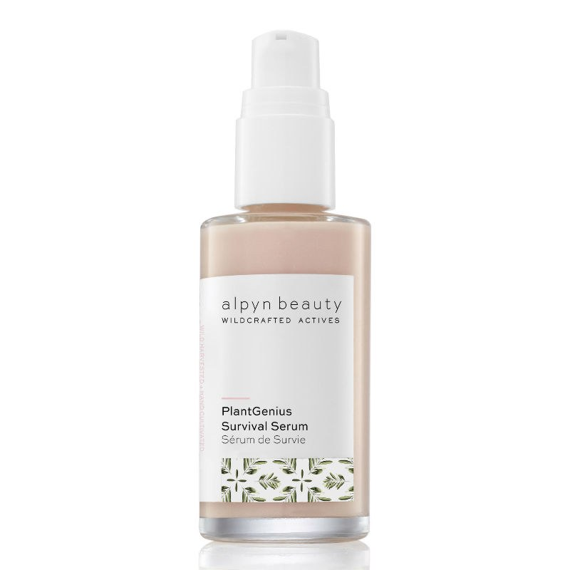 Alpyn Beauty PlantGenius Survival Serum - This all-natural multitasker is the true definition of a skin-care-makeup hybrid. The formula combines brightening vitamin C and licorice extract with a trio of acids (glycolic, lactic, and azaleic) to knock out dark spots and dullness, while squalene and hyaluronic acid pack a hit of hydration. So you can use this as your daily skin-care serum, but it also pulls double duty as a primer and/or highlighter, delivering the perfect amount of a natural-looking glow. One makeup artist explained it as