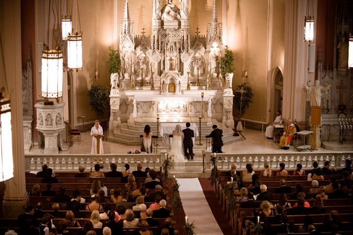 A big traditional wedding at the chapel