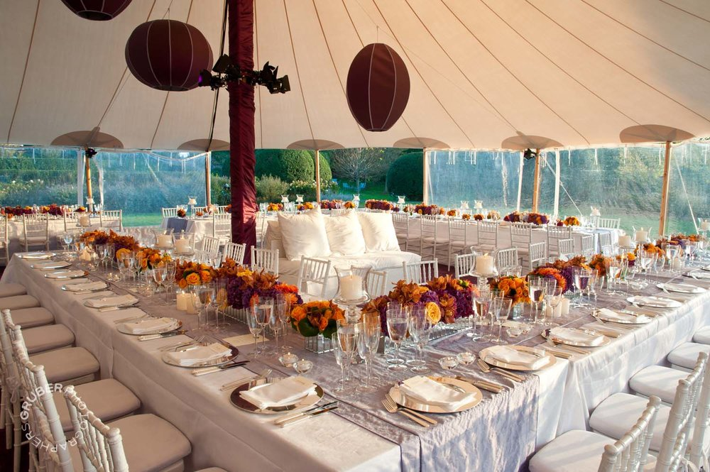 Intricate tablescapes at this Hamptons wedding