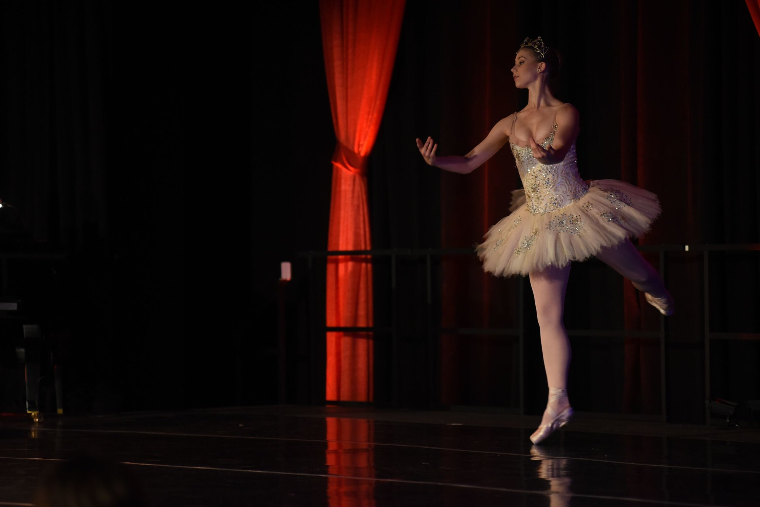 Student ballet dancer from the University of Hartford Hartt School Gala