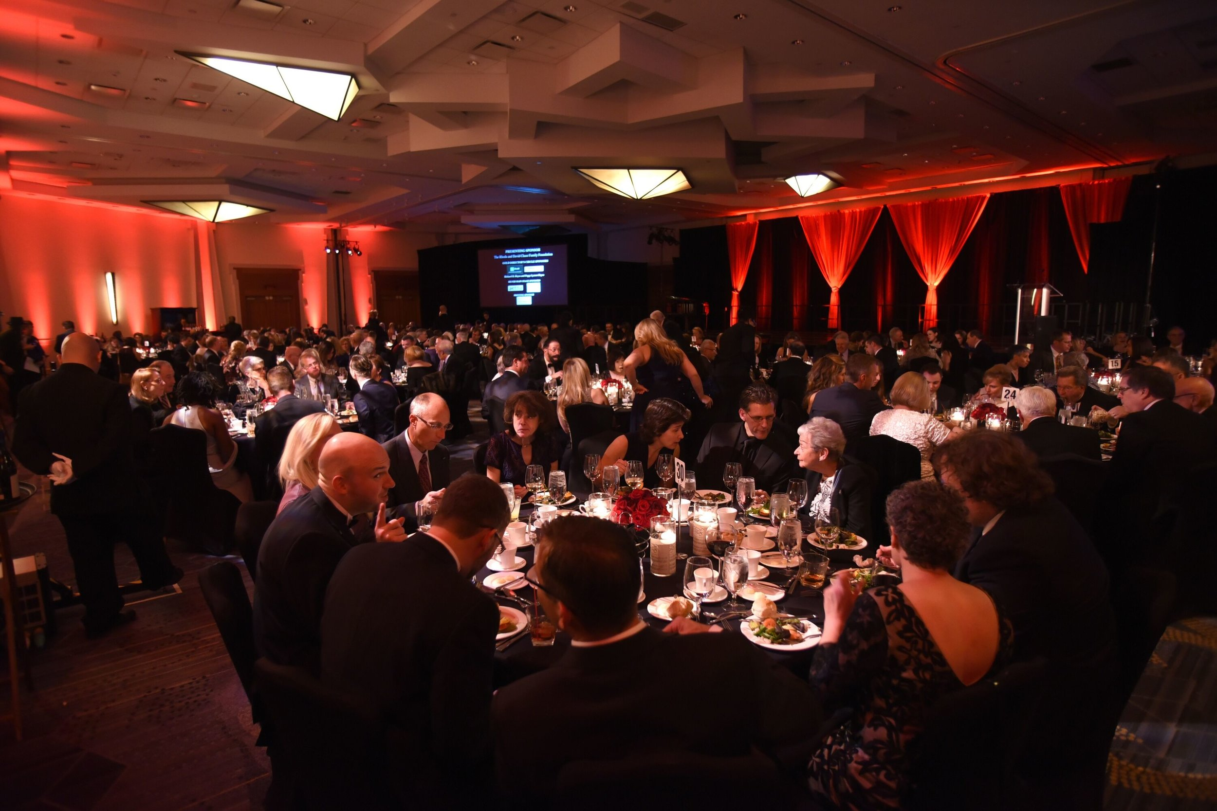 A room full of guests at the University of Hartford Hartt School Gala