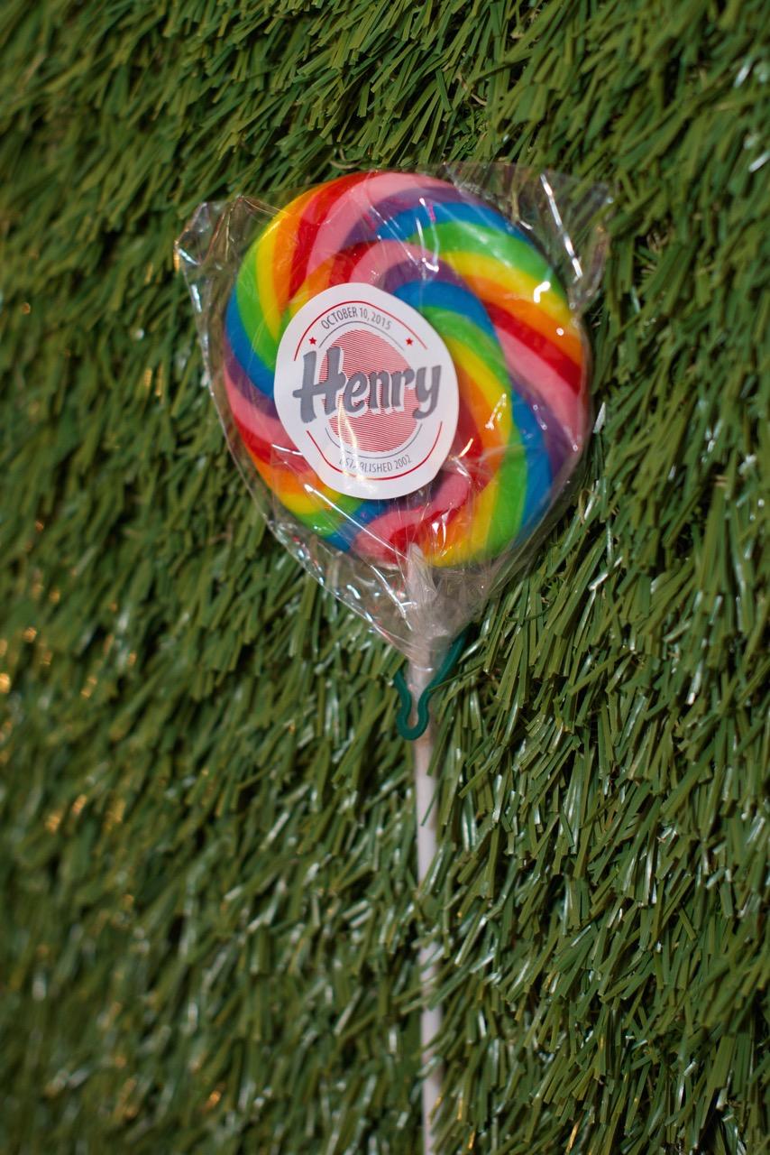 Custom lollipops for client Henry's Bar Mitzvah in West Hartford, CT