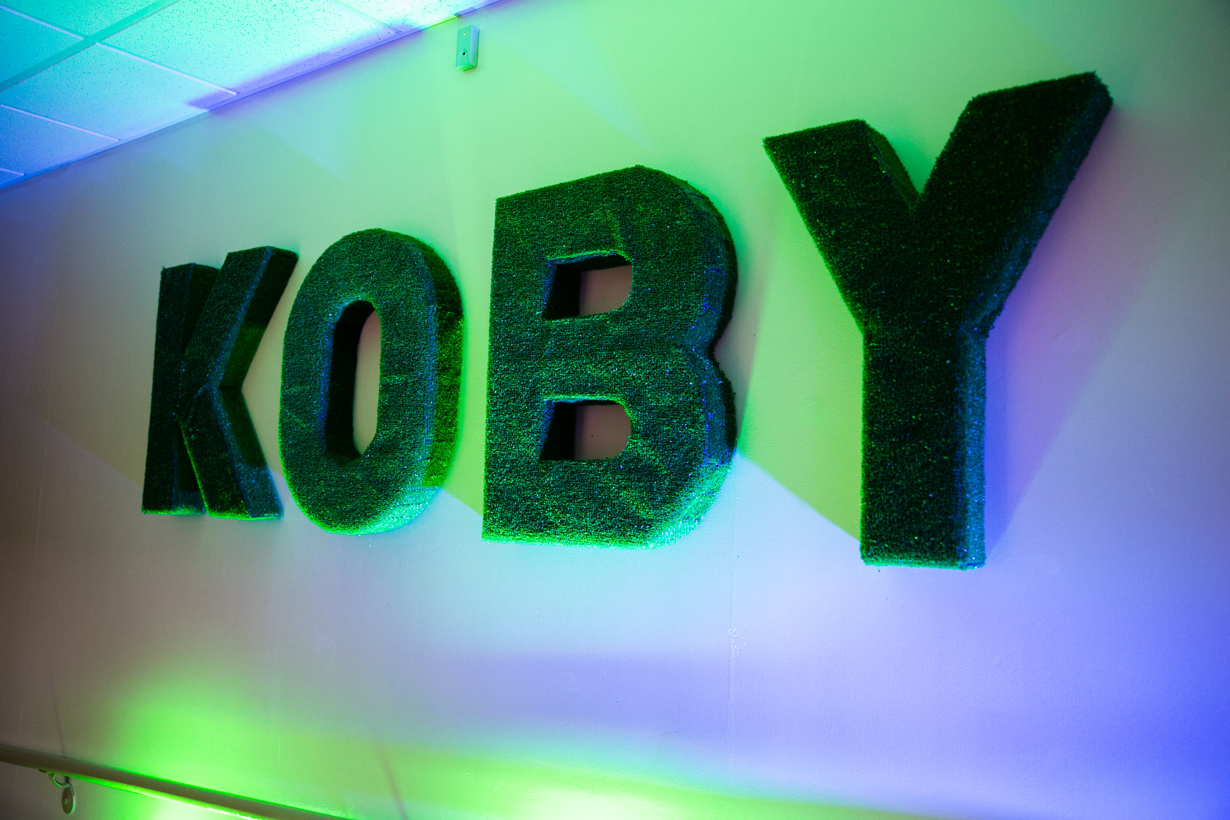 Customized greenery for Koby's big day
