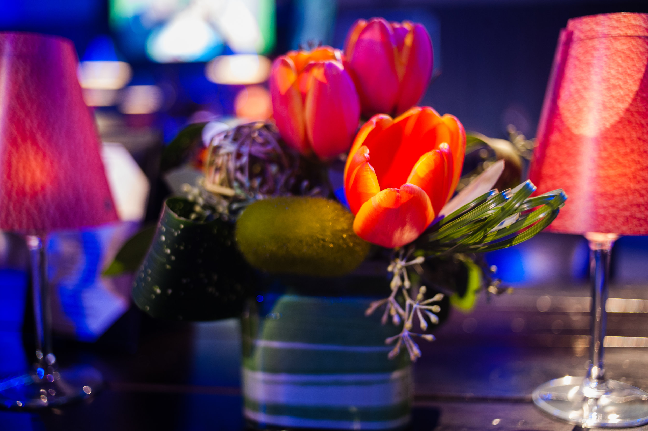 Floral details from the center pieces.