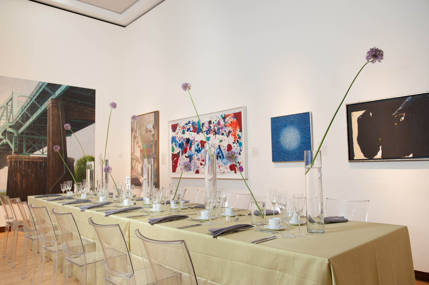 Tables set up at the NBMAA Art Party of the Year 2014