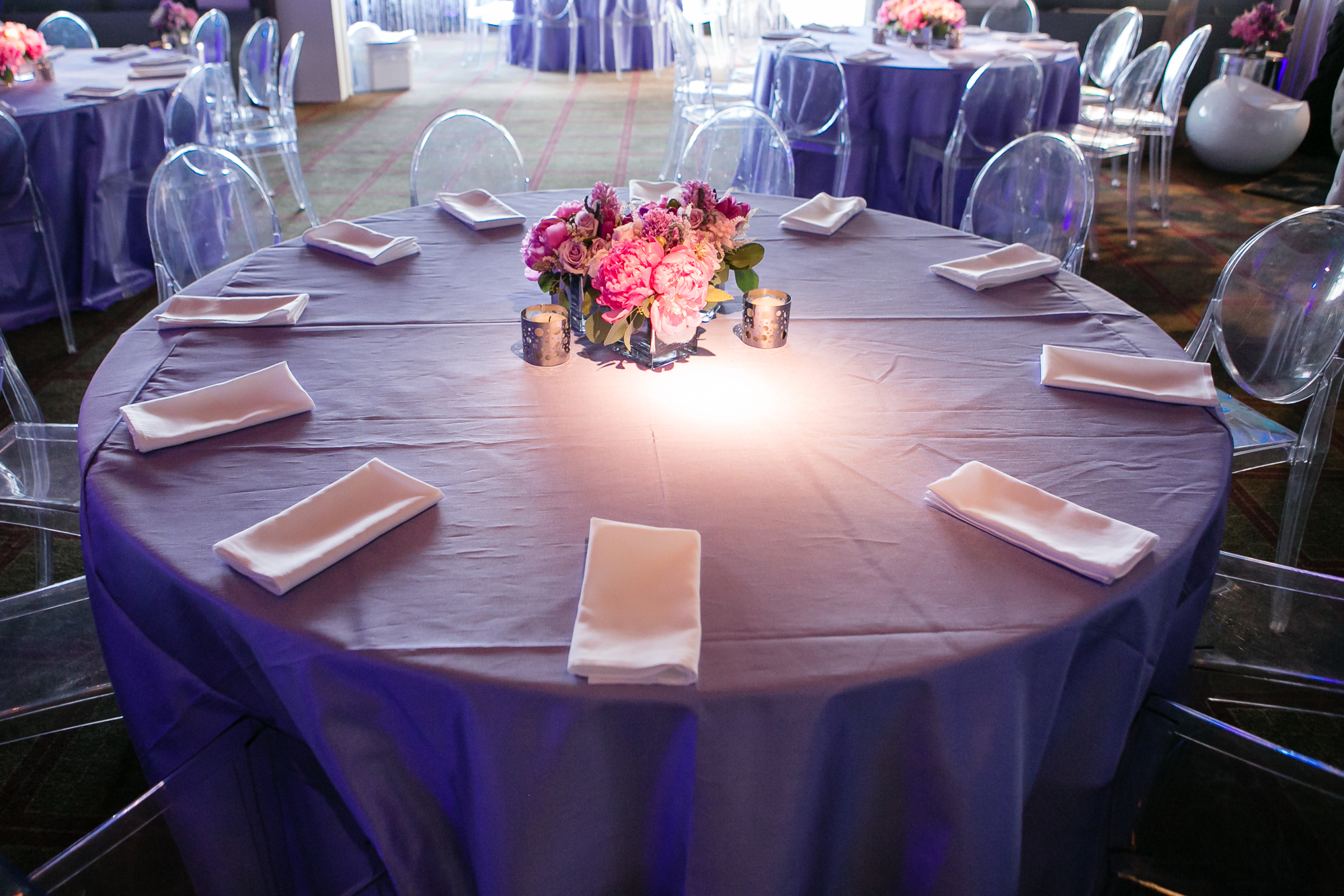 Table set up and design at client Bat Mitzvah
