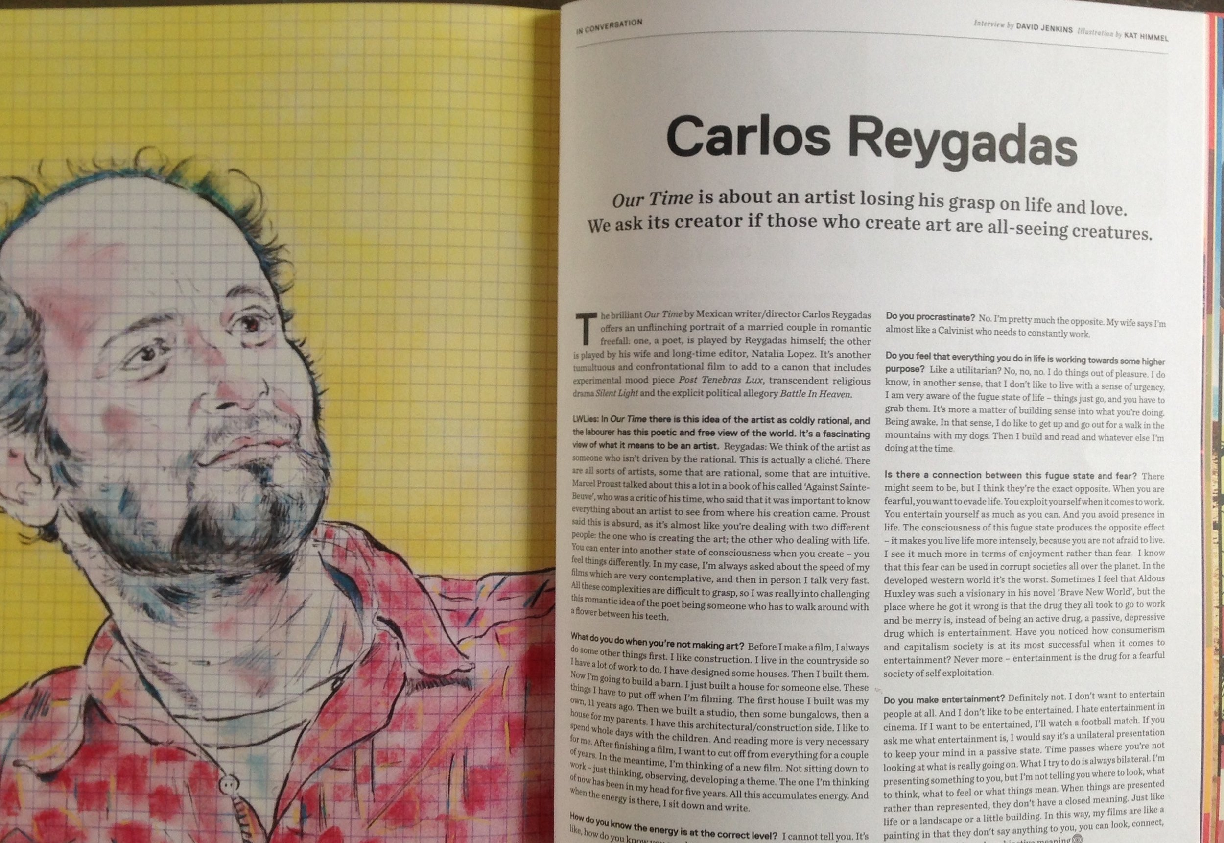 portrait of director carlos reygadas for  little white lies  film magazine's special kinerama edition (number 80)