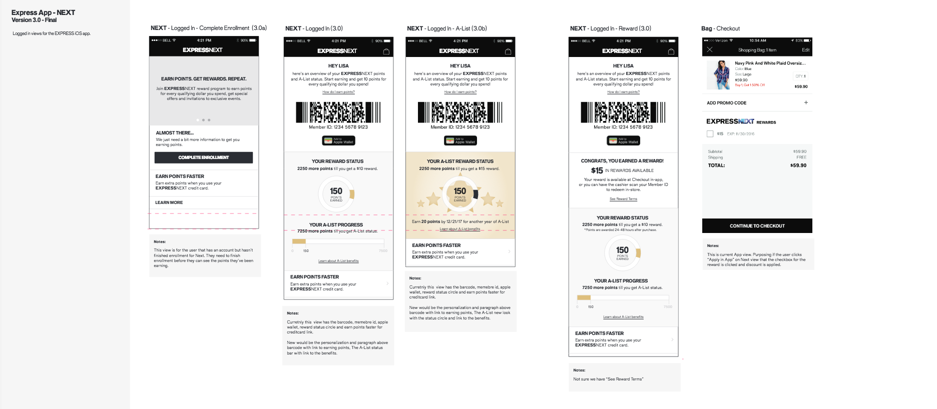 Express Next Loyalty Experience Wires