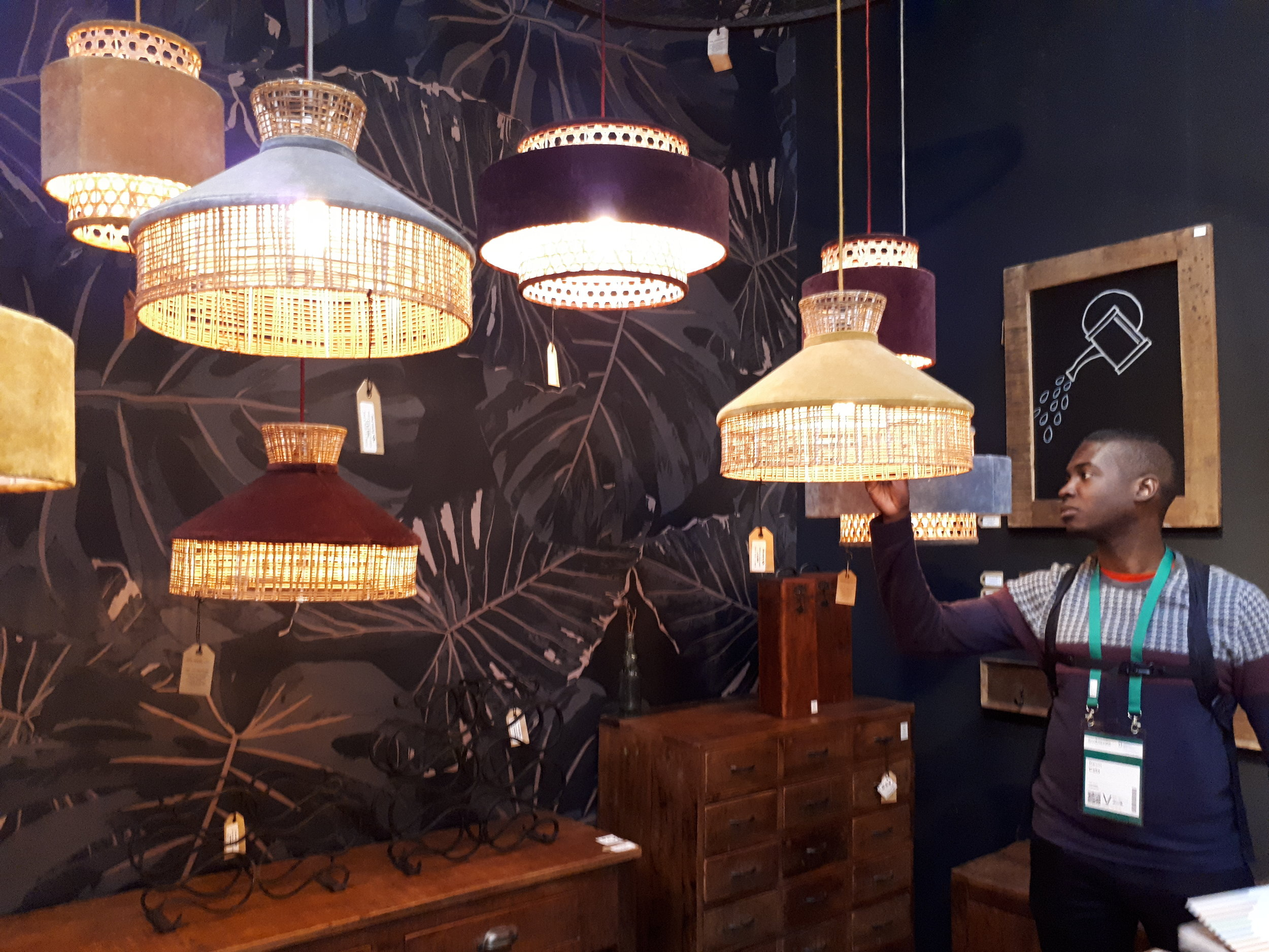 Sustainable and natural fibre-based lighting was a big highlight of the event.