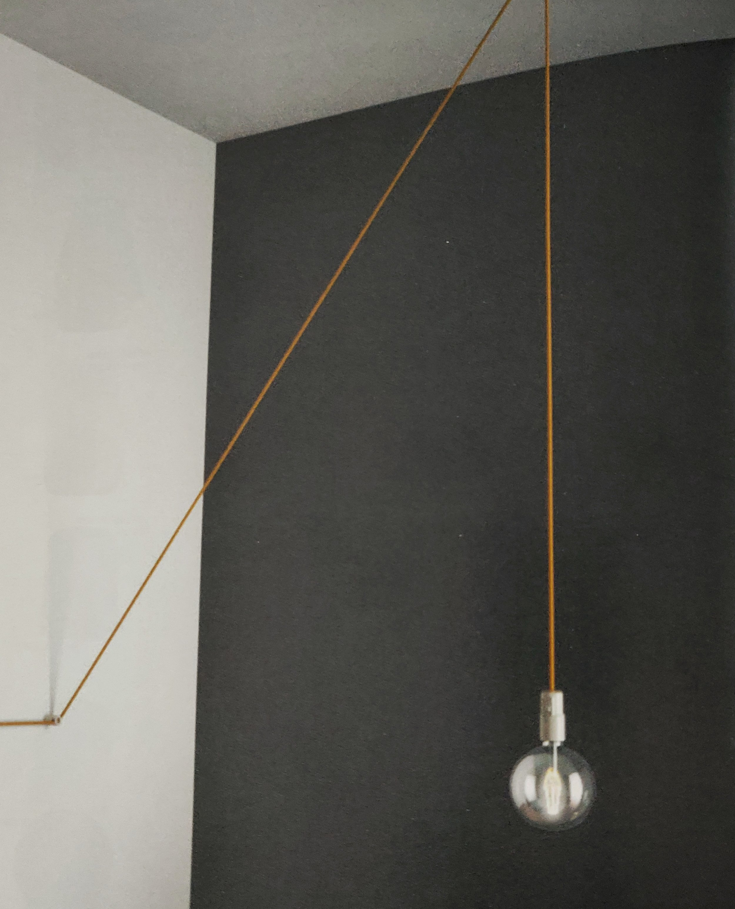 The lighting cable can create angular designs and set the ambience of the room.