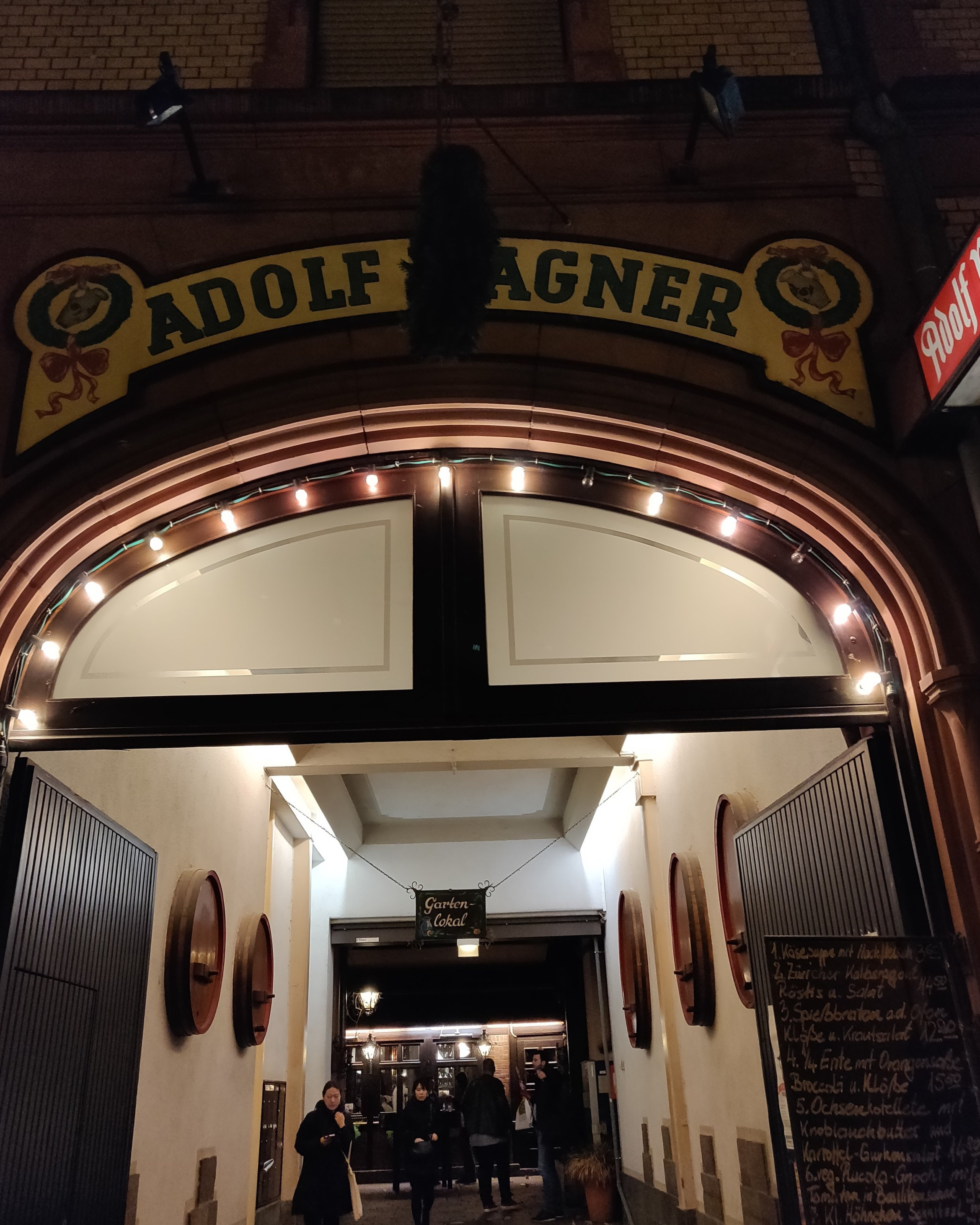 Adolf Wagner's, arguably best schnitzel in Frankfurt!
