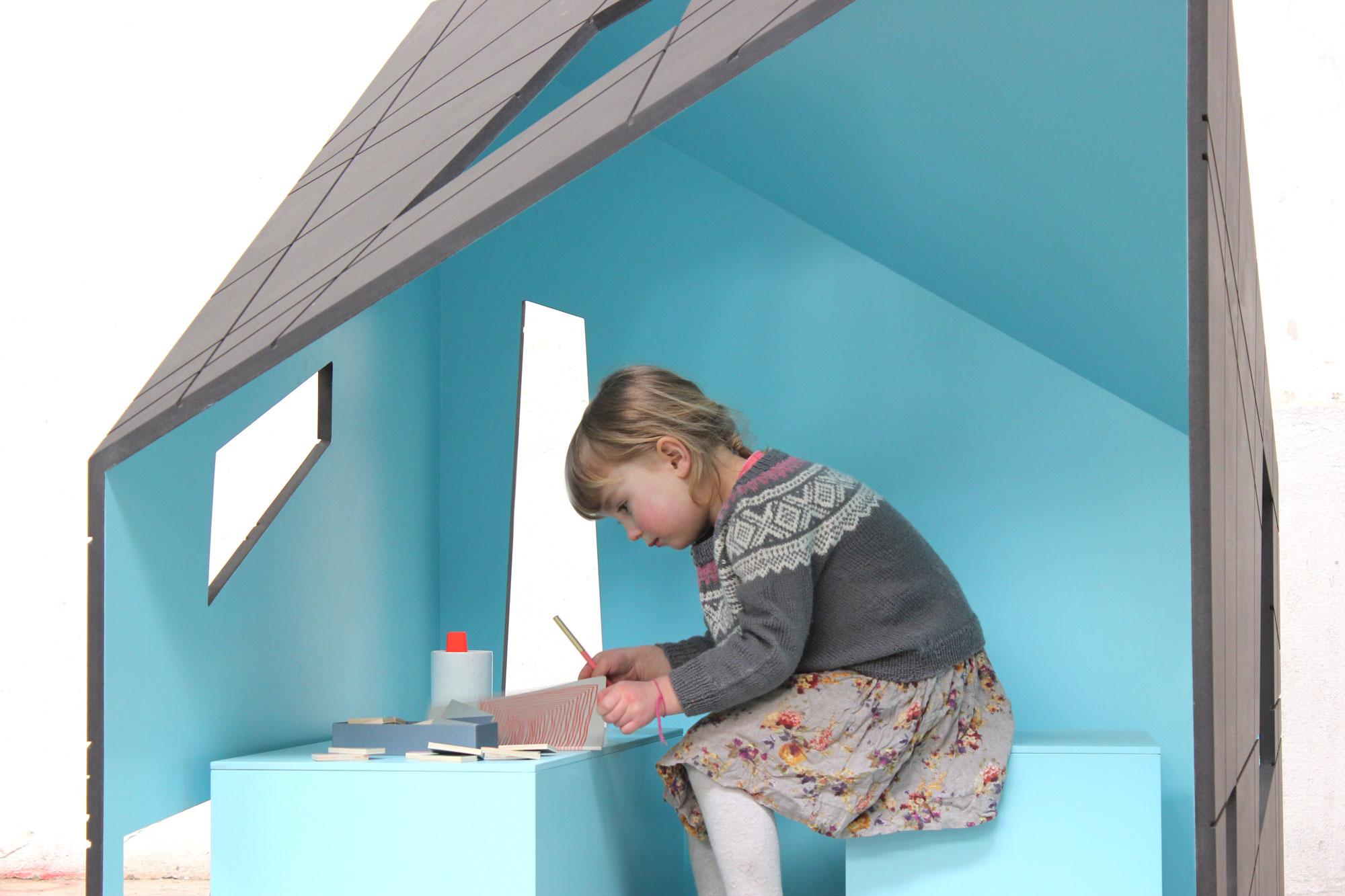 Scandinavian tree house and play house