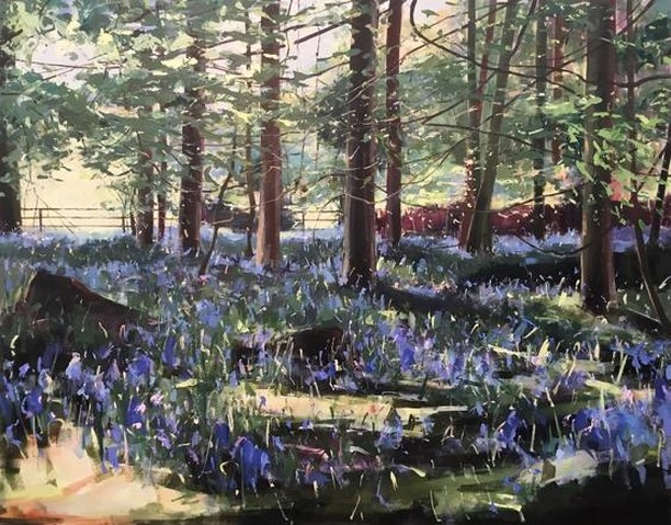 "Sarah Ollerenshaw returns to the Graham Hunter Gallery with her latest exhibition ""The Bluebells Came Late This Year"". Opens today until the 15th June. - @grahamhuntergallery @sarah.ollerenshaw.artist #grahamhuntergallery #sarahollerenshaw #artistoflondon #londonartist #bluebells #painting #woodlandpainting #painter #exhibition #bakerstreet #exhibitionsinlondon #londonexhibitions #wimbledonartstudios"
