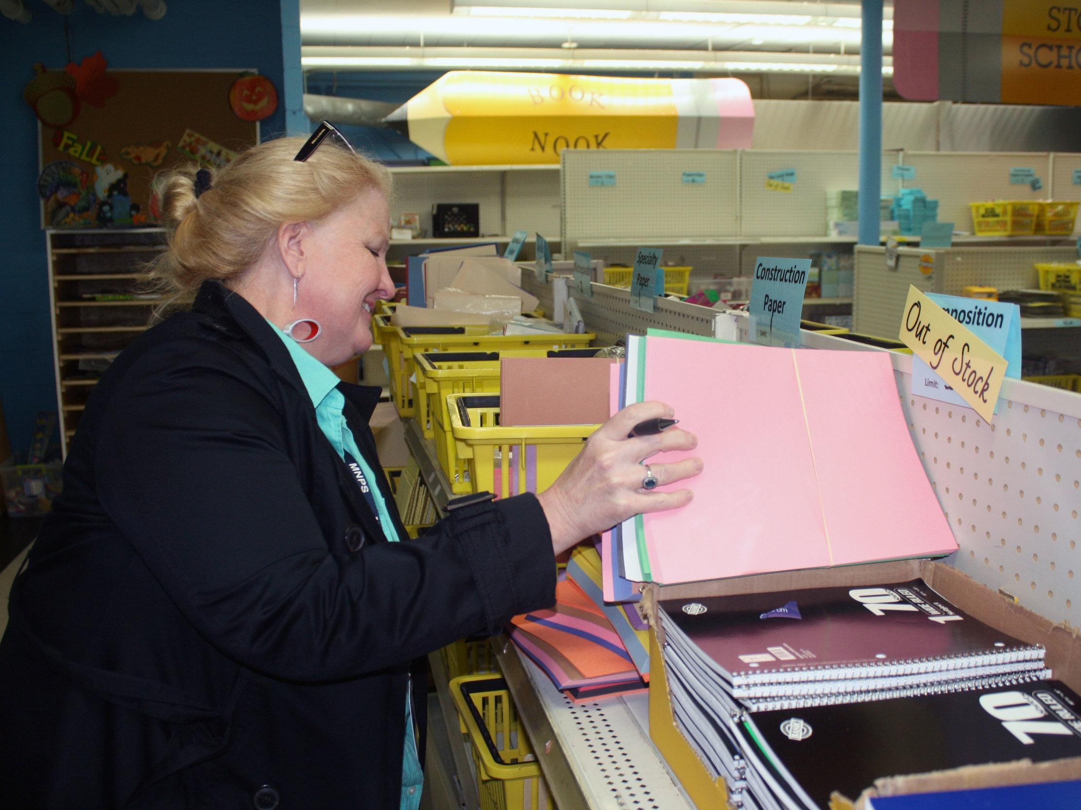 MNPS Teacher shopping for free school supplies
