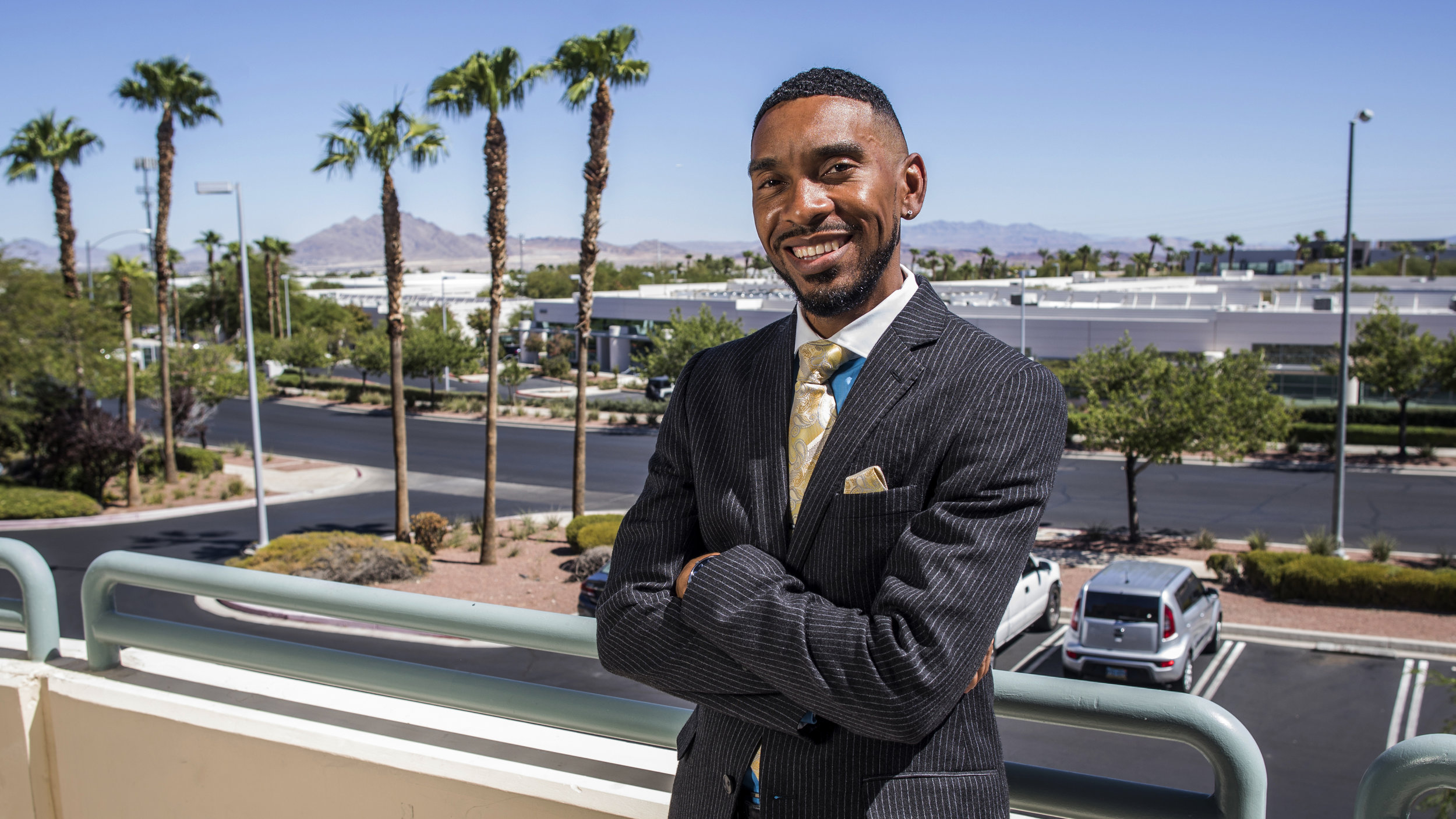 Barclays Assistant Vice President of Community Relations DeAndre Esteen in Henderson, Nev.