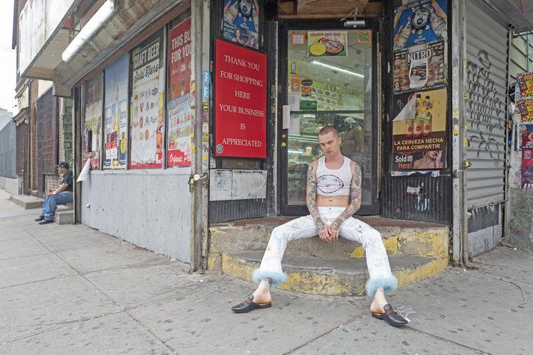 Artist and designer Patrick Church in the Bushwick area of Brooklyn, New York