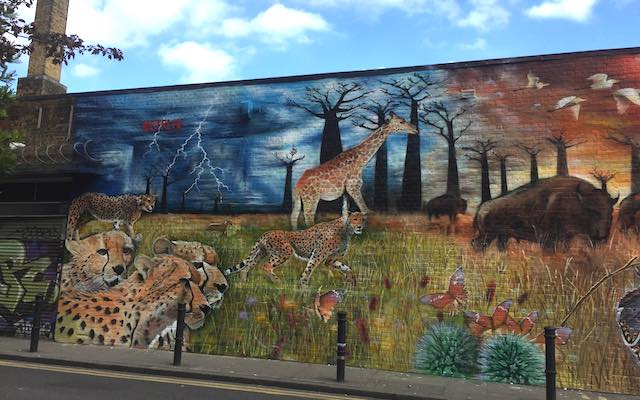 Our planet mural Shoreditch