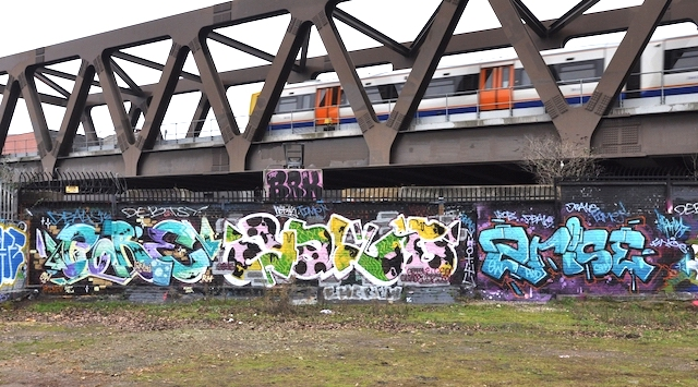 Allen Gardens, Shoreditch. Artists: Core 246, 2Rise and Yale.