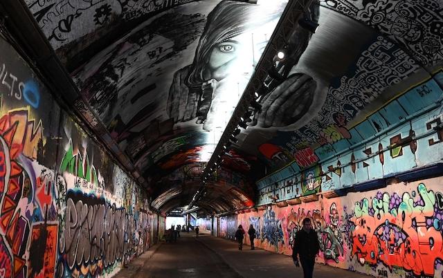 Leake Street, Lambeth, London. Main artist – Zabou